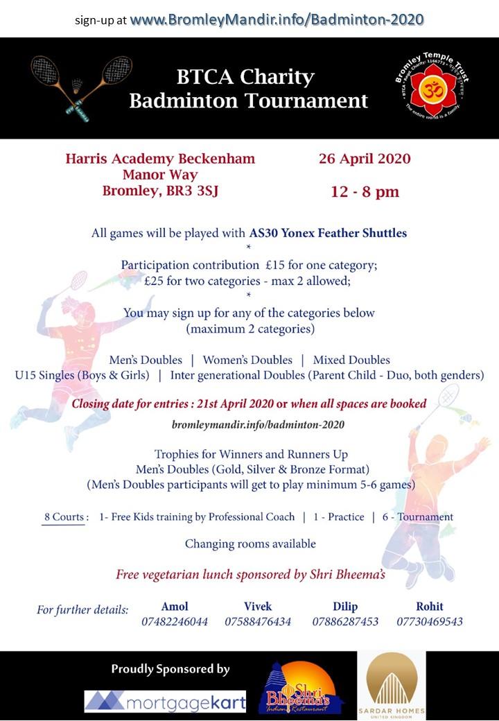 Badminton Tournament Flyer 2020