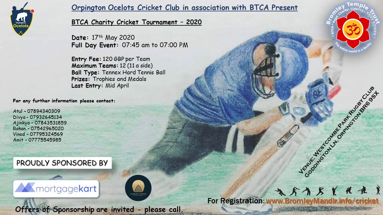 BTCA Cricket Tournament Flyer