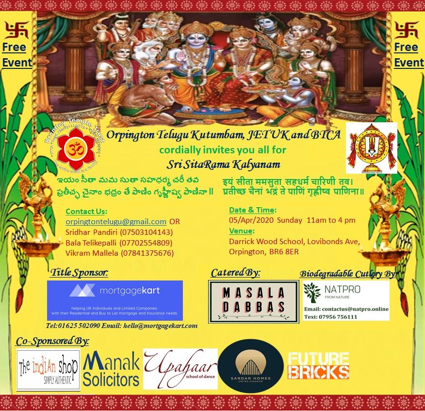 Sri Sita Ram Kalyanam Bromley Temple and Cultural Association